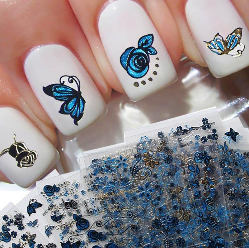 estampas uñas decoracion material stickers moda