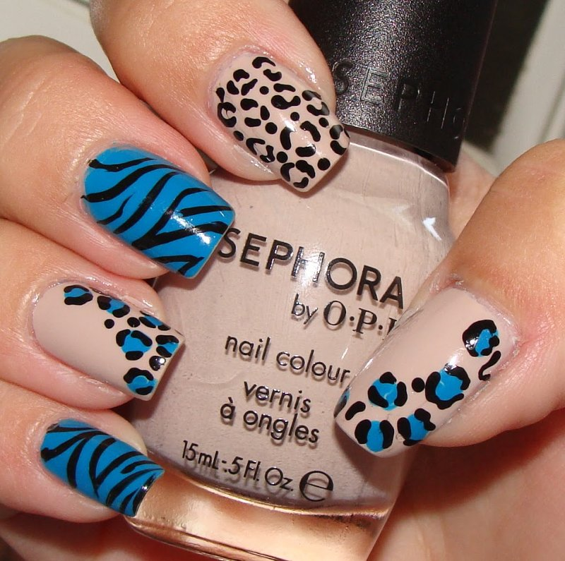 uñas decoradas leopard print animal