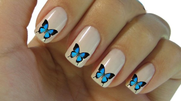 uñas decoradas mariposas stickers pegatinas estampas