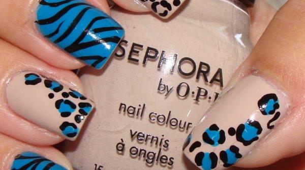 uñas leopard print decoracion