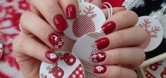 uñas navidad decoracion moda disenos rojas blanco